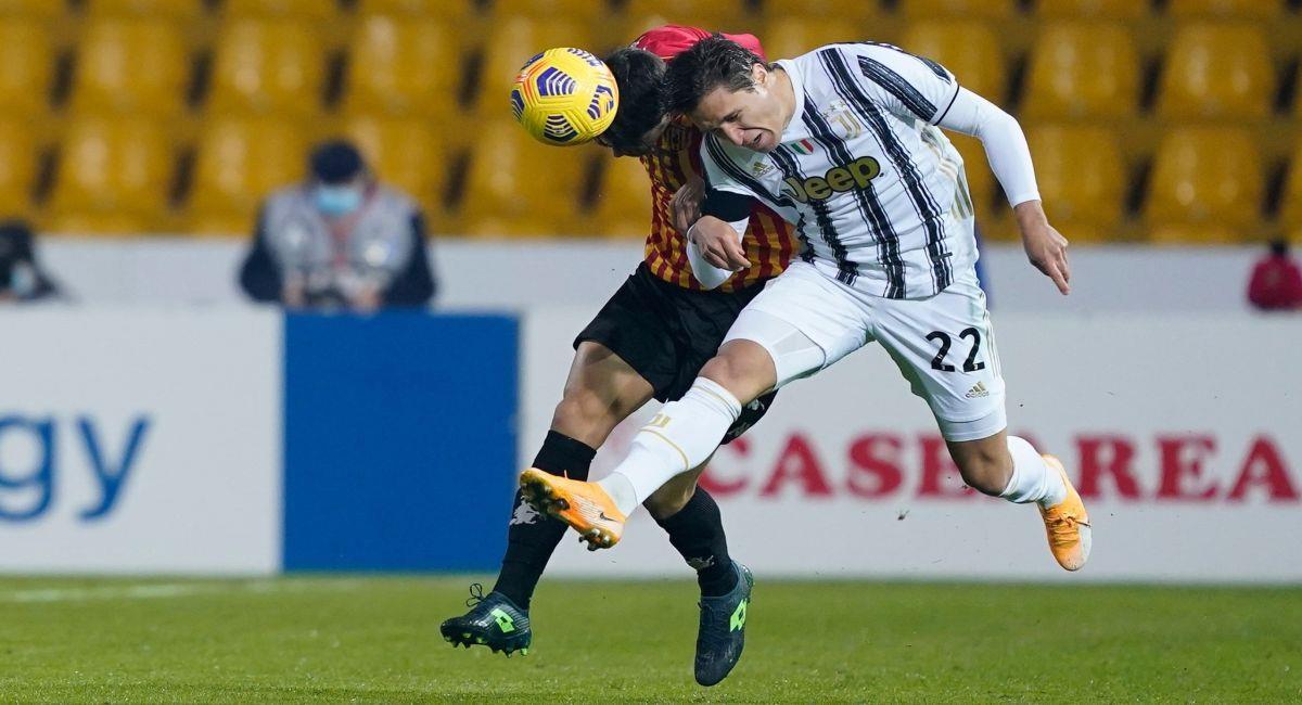 Juventus no pudo en su visita al Benevento. Foto: EFE