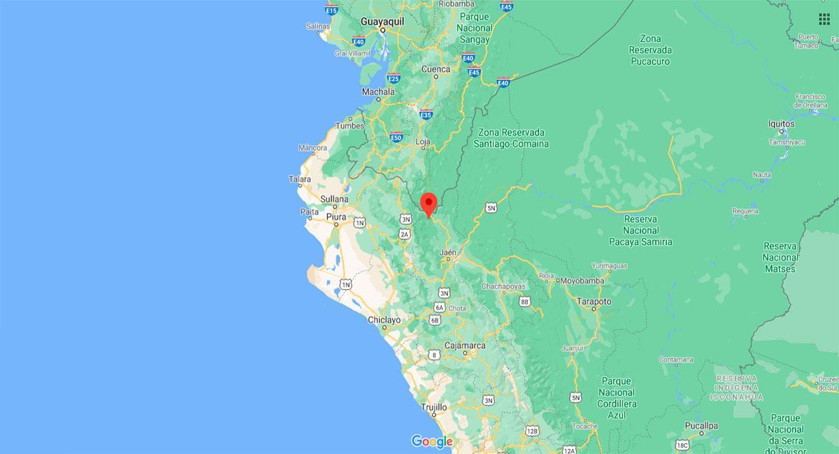 Temblor sacudió San Ignacio (Cajamarca). Foto: Google Maps