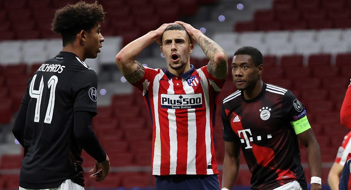 Atlético de Madrid tendrá que buscar su pase a octavos en la siguiente ronda. Foto: EFE