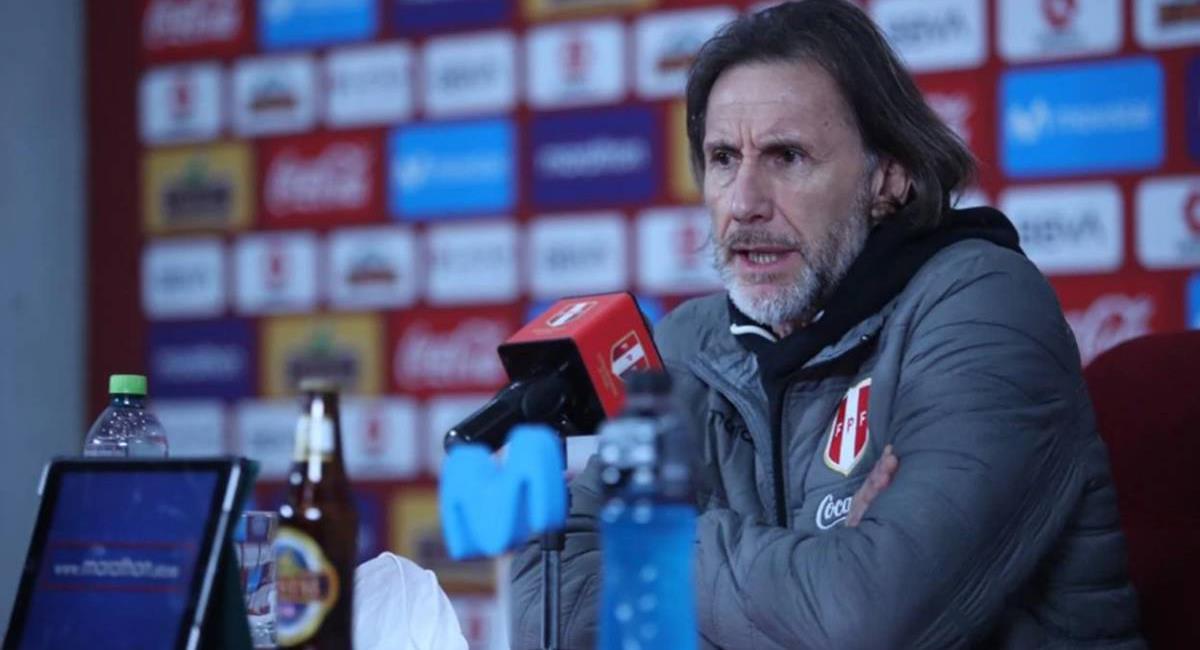Ricardo Gareca no fue indiferente al descenso de Alianza Lima. Foto: Twitter @SeleccionPeru