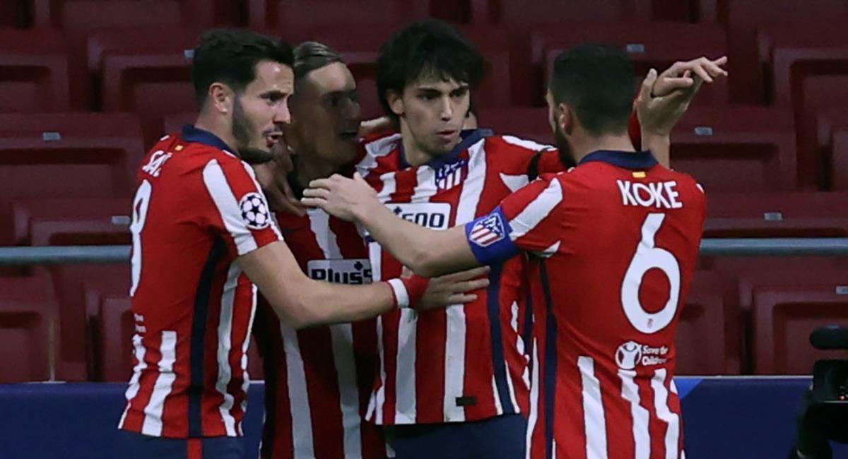 Joao Félix anota el primero para Atlético de Madrid. Foto: EFE