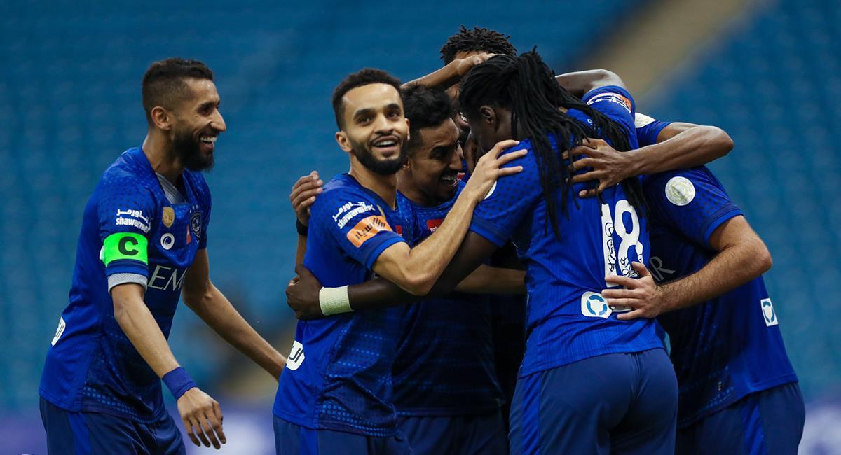 Al Hilal goleó en casa a Al-Fareh, con Carrillo. Foto: Twitter @Alhilal_EN