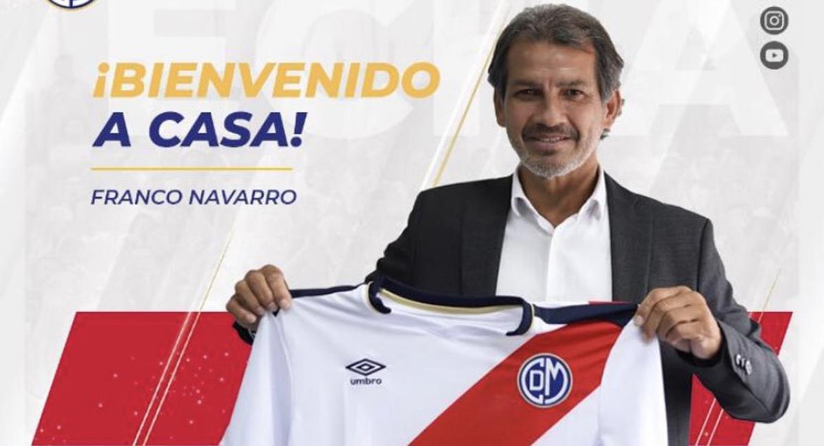Deportivo Municipal presentó a Franco Navarro. Foto: Twitter @DepMunicipal