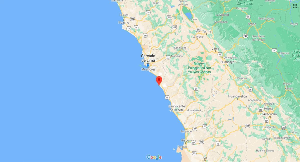 Temblor sacudió Lima este miércoles por la noche. Foto: Google Maps
