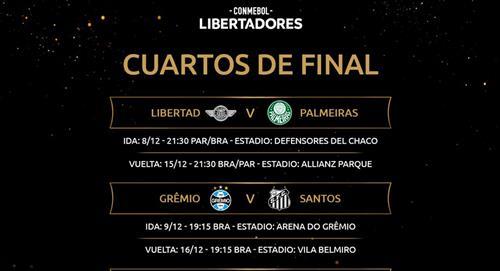 Copa Libertadores: día y hora de los partidos por cuartos de final - Fixture