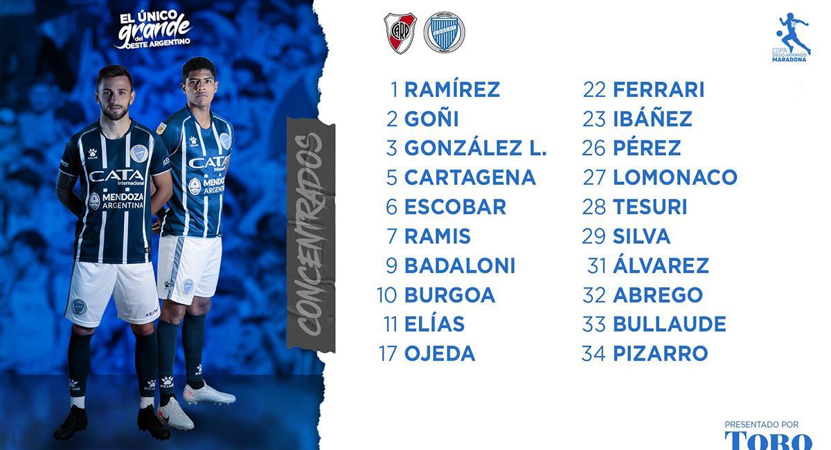 Wilder Cartagena quiere minutos con su club. Foto: Twitter Godoy Cruz