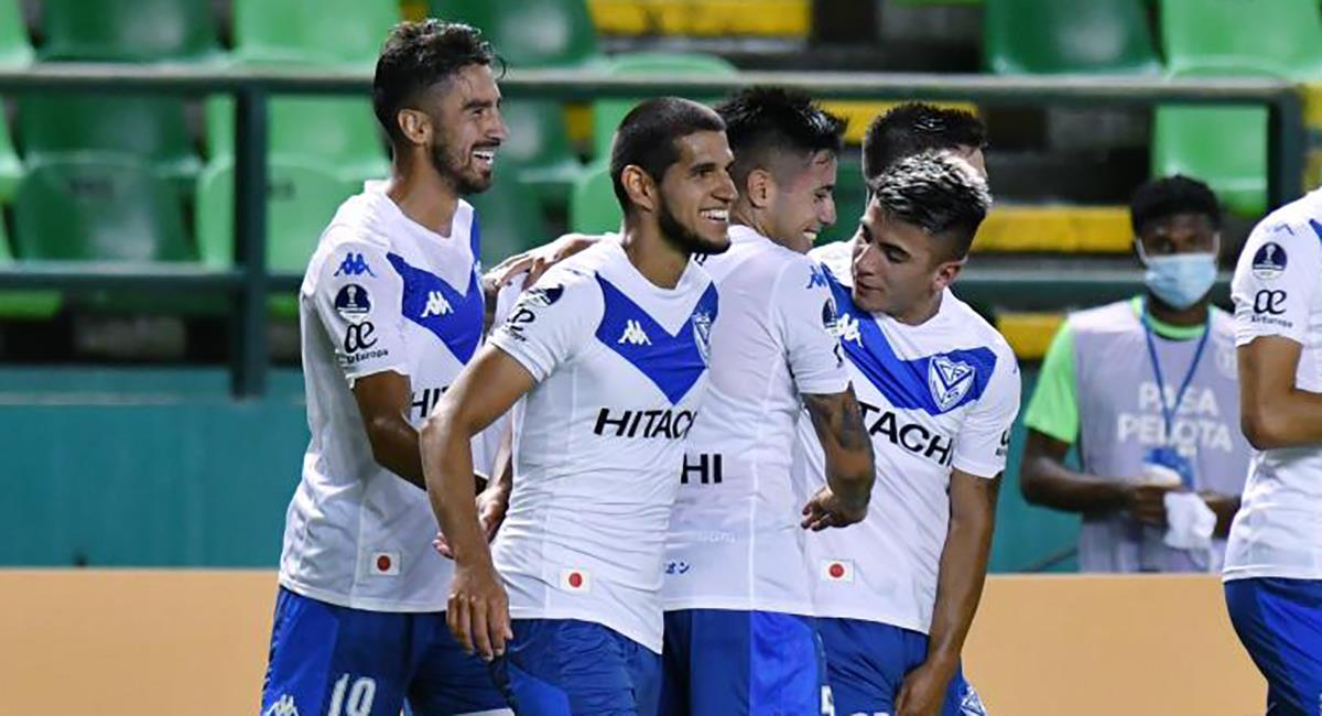 Abram anotó en la victoria de Vélez sobre Deportivo Cali. Foto: Twitter Vélez Sarsfield