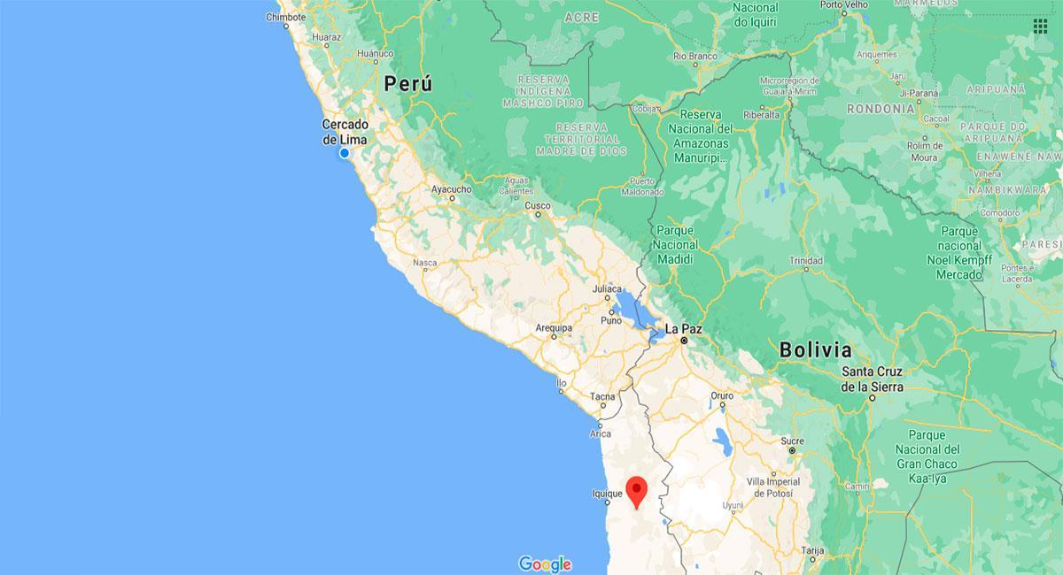 Fuerte temblor sacudió Tacna. Foto: Google Maps