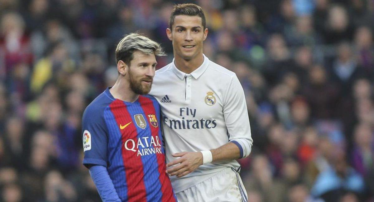Reencuentro entre Messi y Ronaldo. Foto: EFE