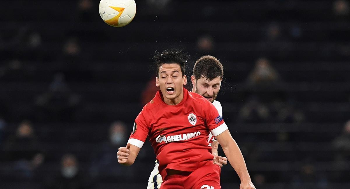 Cristian Benavente comandó el ataque del Antwerp. Foto: EFE
