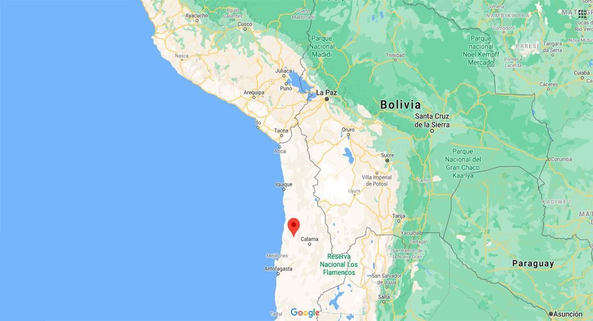 Temblor sacudió Tacna este lunes 14 de diciembre. Foto: Google Maps