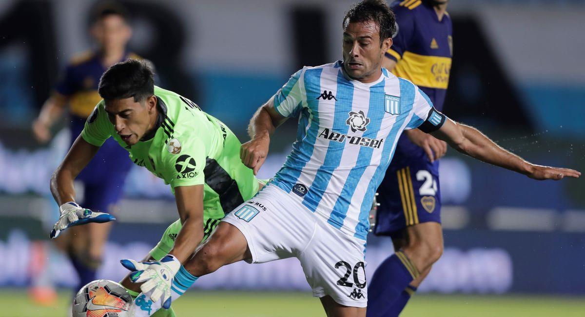 Racing Club venció a Boca Juniors en la Copa Libertadores. Foto: EFE