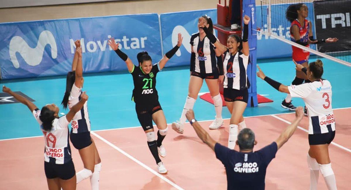 El equipo de vóley femenino de Alianza Lima. Foto: Facebook Club Alianza Lima