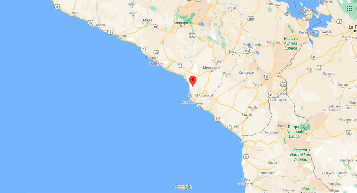 Temblor se sintió en Ilo en Navidad. Foto: Google Maps
