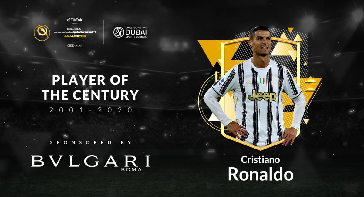 Cristiano Ronaldo, el Mejor del Siglo XXI. Foto: Twitter @Globe_Soccer
