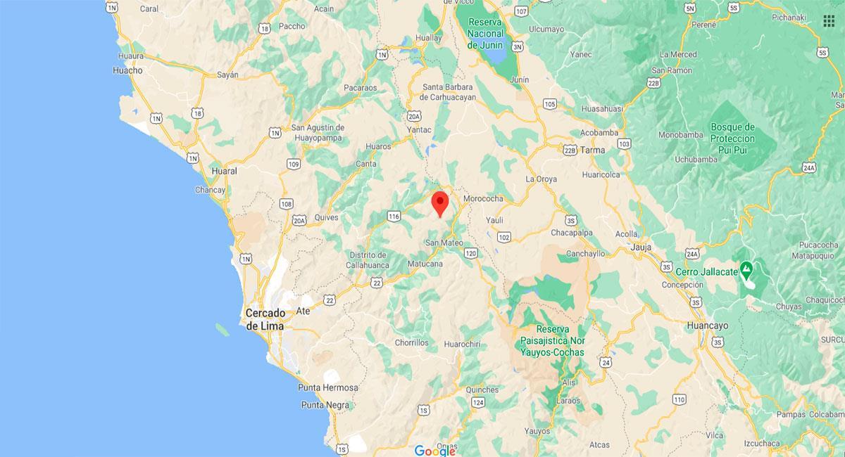 Temblor sacudió Lima este domingo por la tarde. Foto: Google Maps