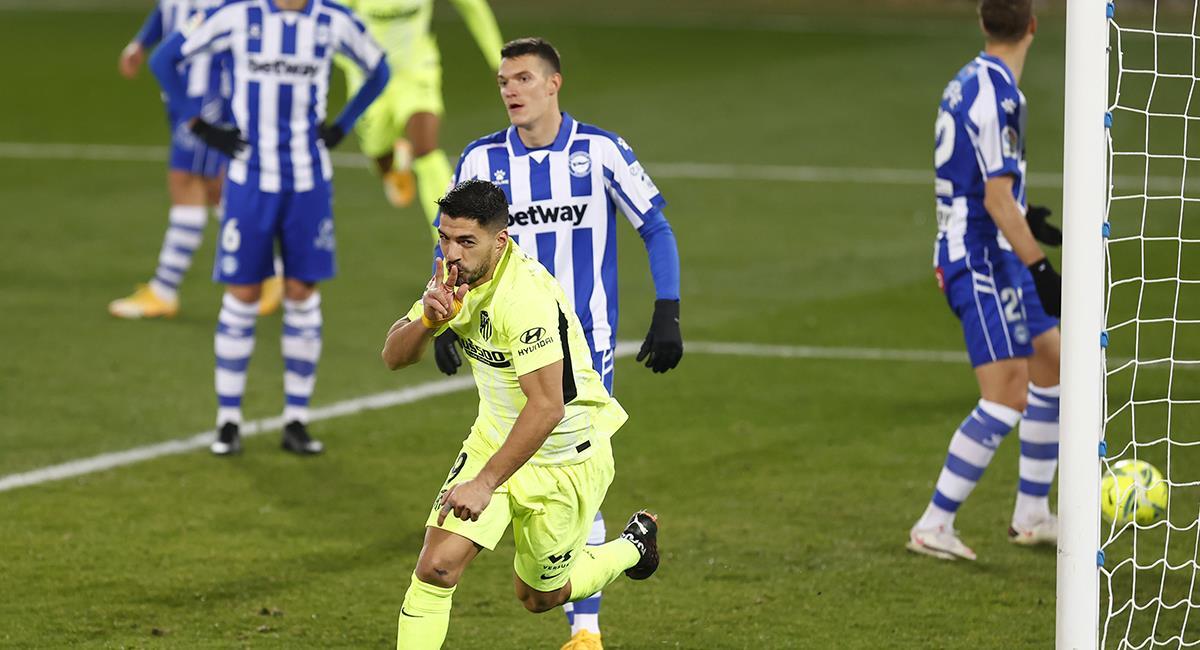 Luis Suárez anotó sobre los 90 minutos. Foto: Twitter @Atleti