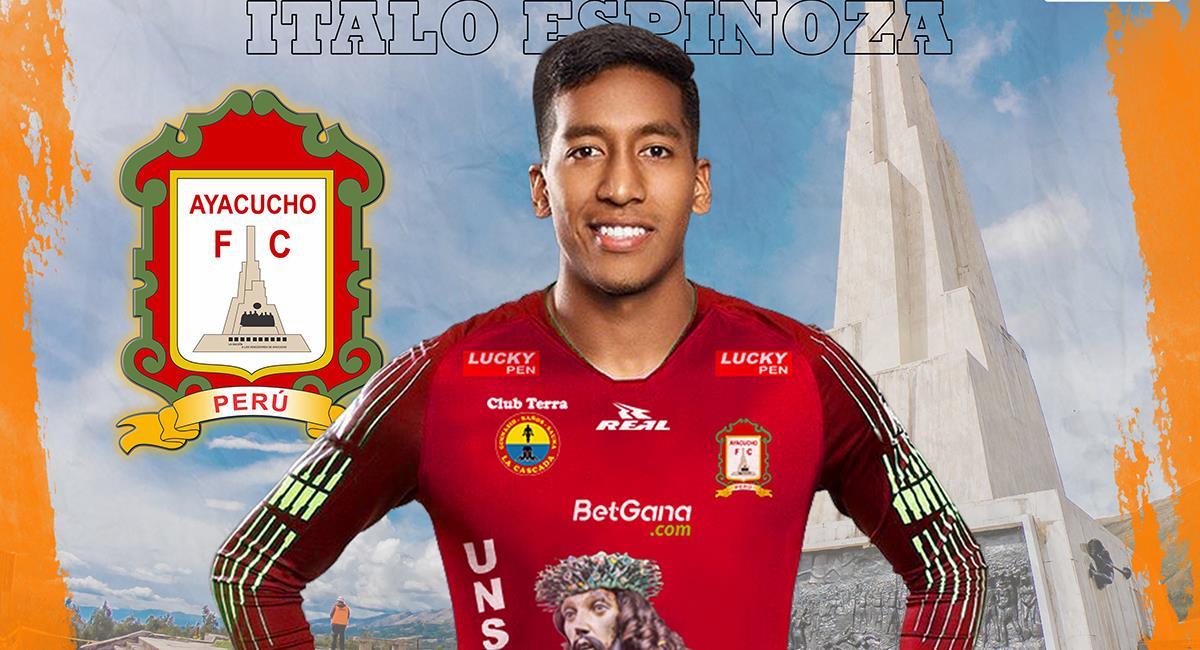 Espinoza se queda en la Liga 1. Foto: Twitter Ayacucho Fútbol Club