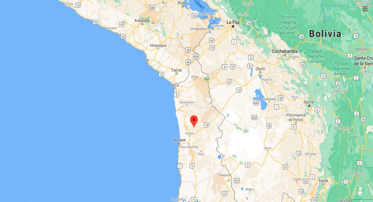 Temblor sacudió Tacna este miércoles 6 de enero. Foto: Google Maps