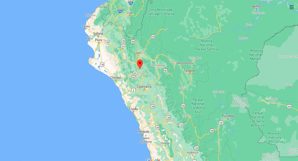 Temblor sacudió Cutervo (Cajamarca) este viernes 8 de enero. Foto: Google Maps