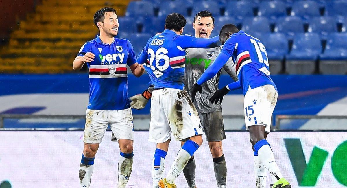 Sampdoria jugará el lunes por la Serie A. Foto: Facebook Club Sampdoria