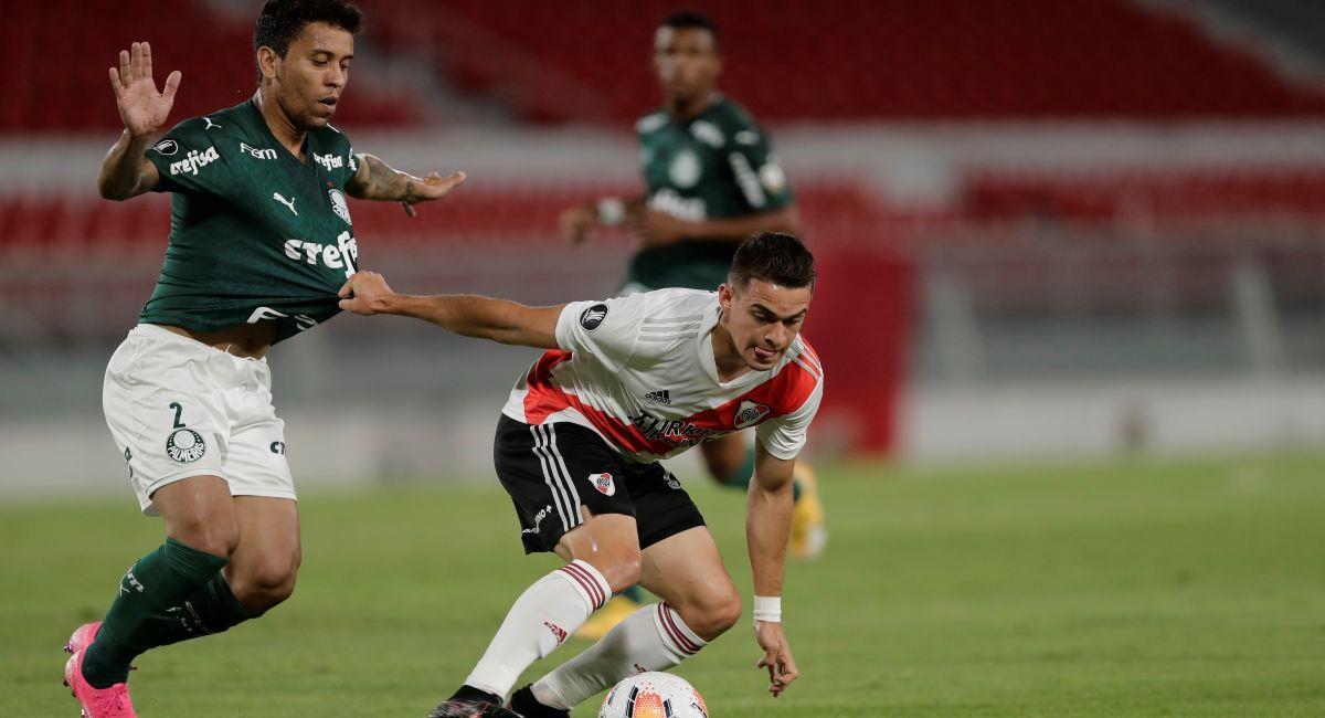 River le devolverá la visita a Palmeiras en las semifinales de la Copa Libertadores. Foto: EFE