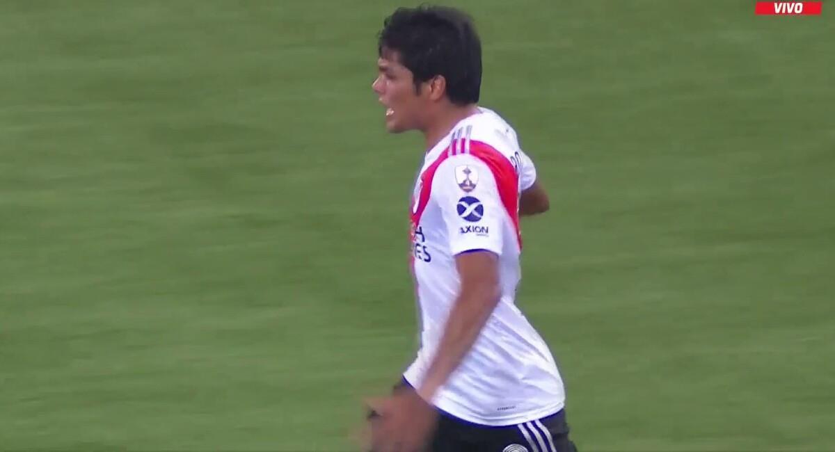 Rojas puso el primero para River Plate. Foto: Twitter Captura ESPN