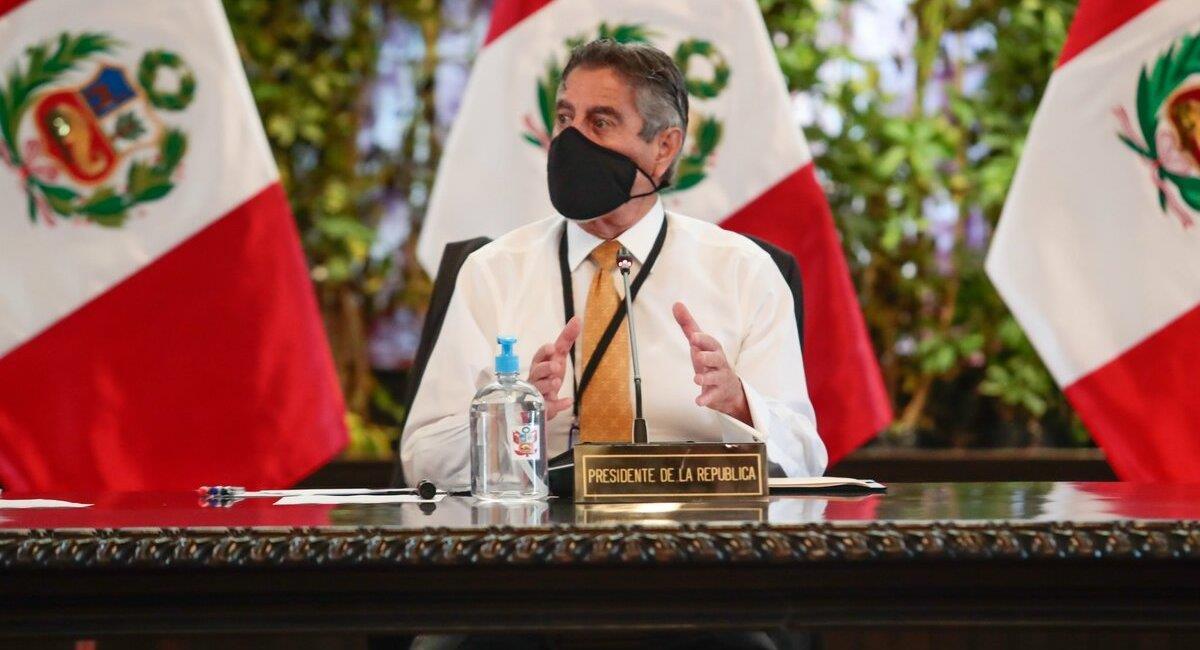 Francisco Sagasti hará oficial nuevas medidas en un Decreto Supremo. Foto: Twitter Presidencia del Perú