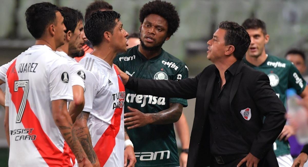 River Plate quedó fuera de la Libertadores ante Palmeiras. Foto: EFE
