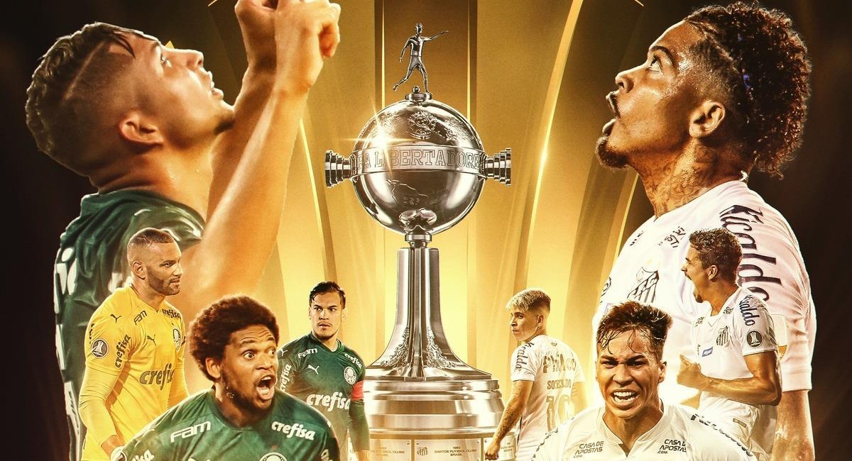 Palmeiras y Santos van por la gloria eterna. Foto: Twitter Conmebol Libertadores
