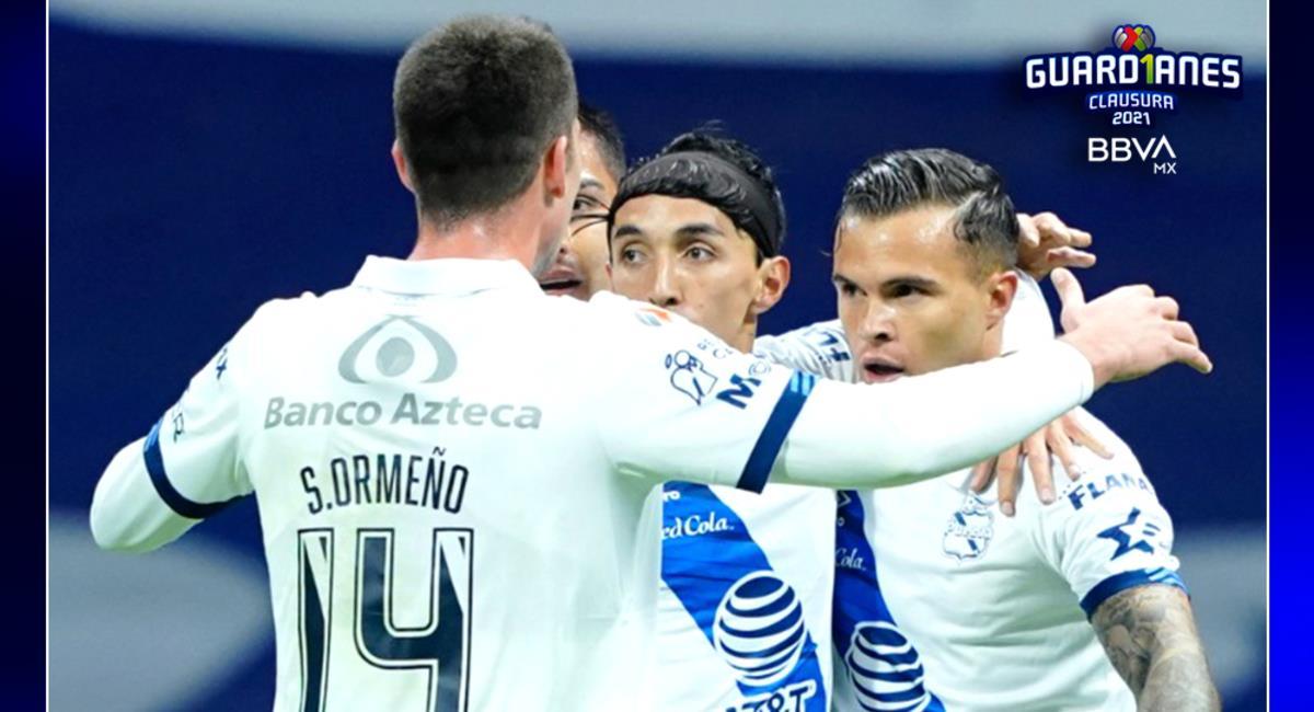 Santiago Ormeño celebrando el único gol del partido. Foto: Twitter @LigaBBVAMX