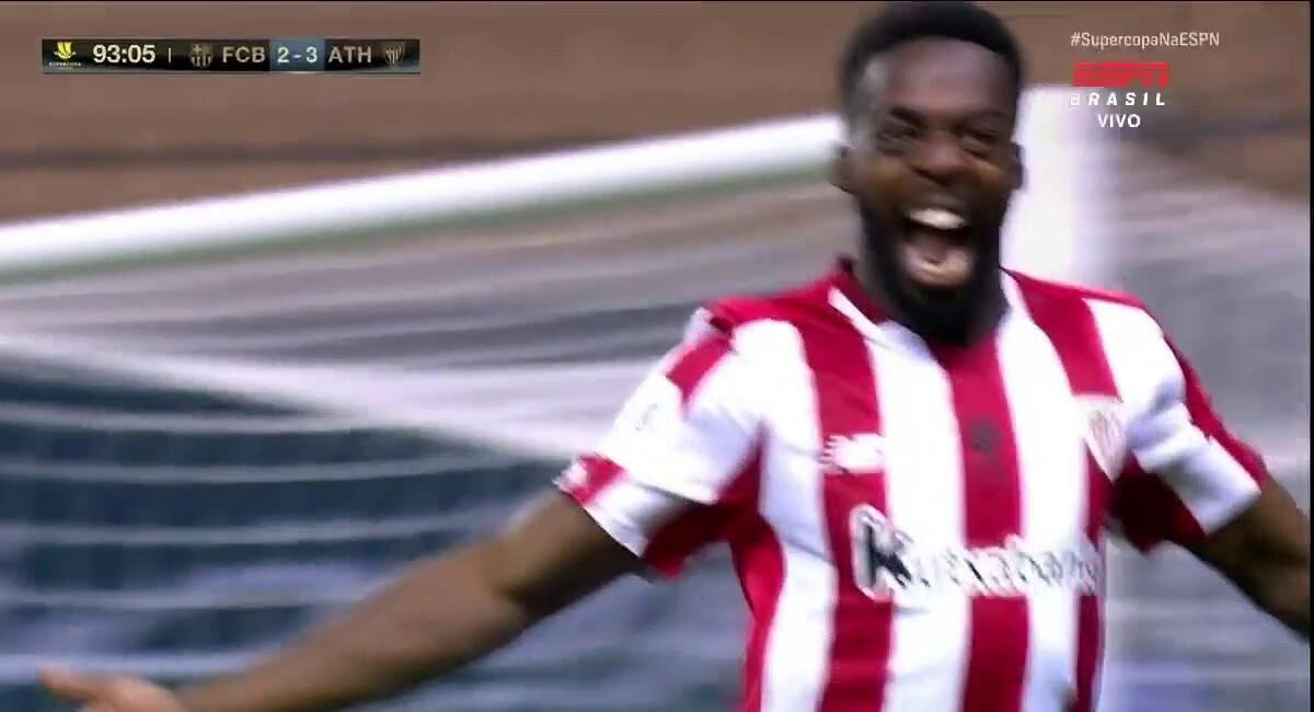 Barcelona vs Athletic Club: gol de Iñaki Williams para ...