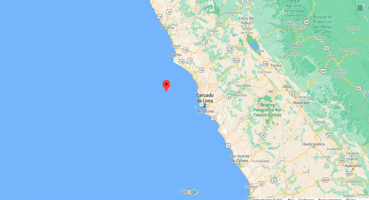 Temblor sacudió Lima este domingo 17 de enero. Foto: Google Maps
