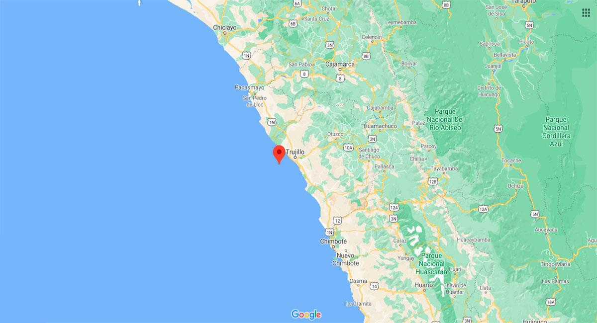 Temblor sacudió Trujillo (La Libertad) este domingo 17 de enero. Foto: Google Maps