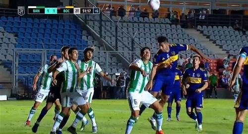 Boca Juniors vs Banfield: Carlos Zambrano y el error que le costó el gol de Banfield (VIDEO)