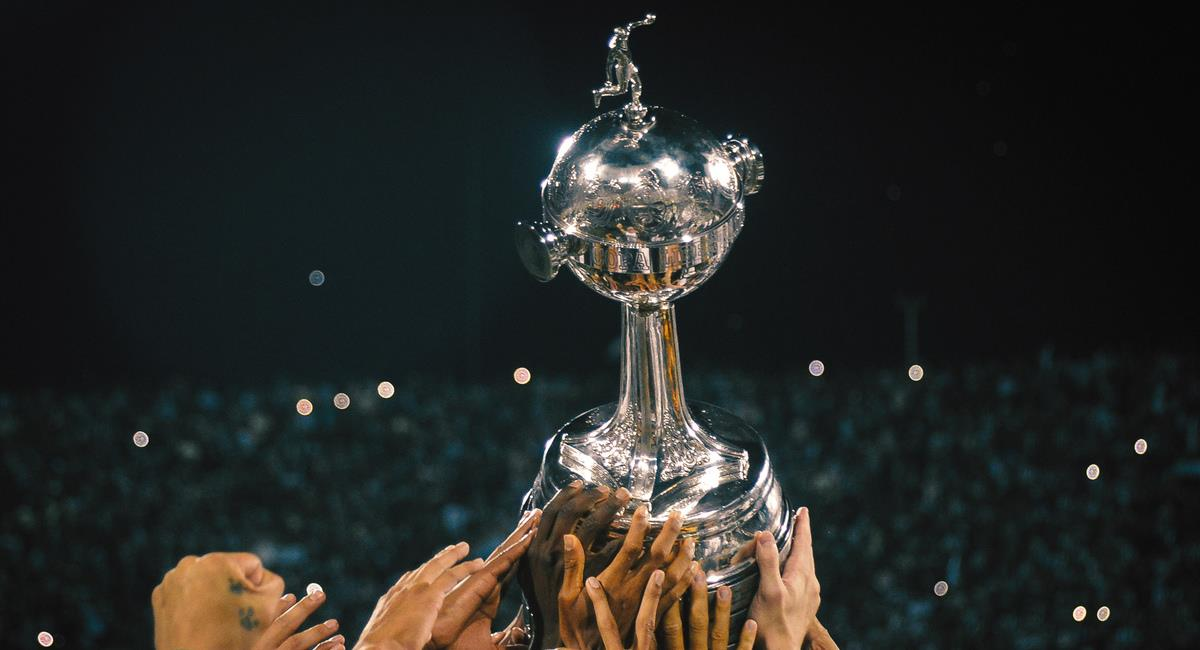 Sorteo de la Conmebol Libertadores 2021. Foto: Twitter Conmebol Libertadores