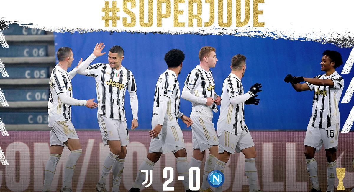 Juventus es el Supercampeón de Italia. Foto: Twitter Juventus