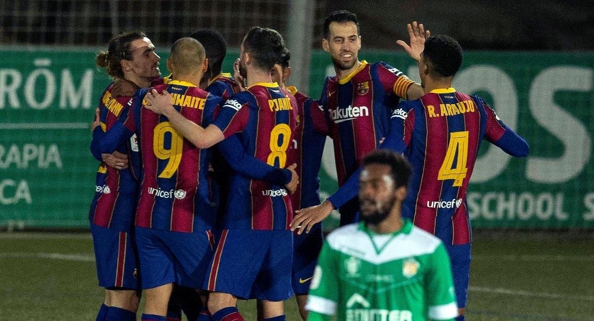 Barcelona venció 2-0 a Cornellà por la Copa del Rey. Foto: EFE