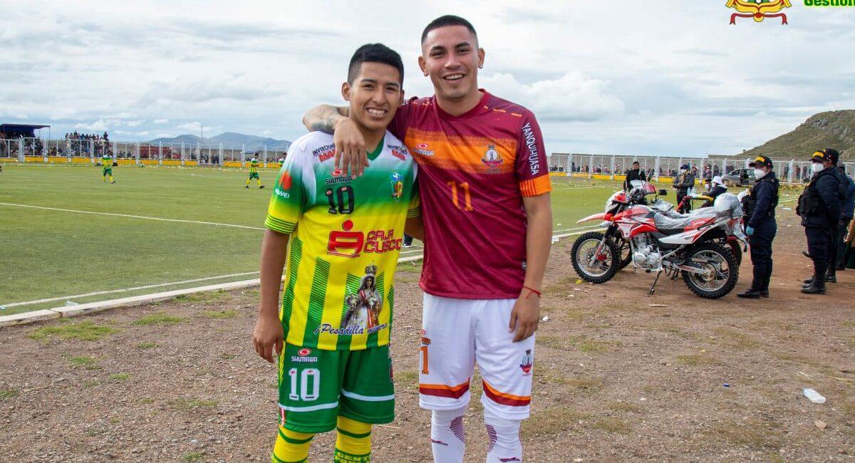 Andy Polar y Jean Deza en Puno. Foto: Facebook Municipalidad Distrital de Caracoto