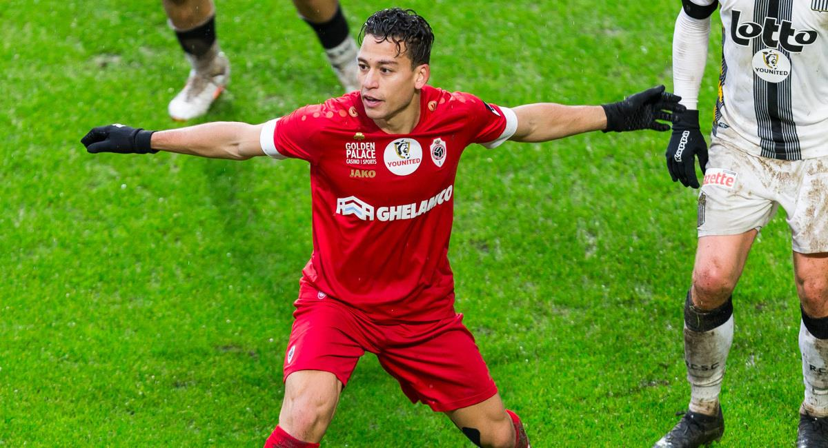 Benavente convocado en Antwerp. Foto: Prensa Royal Antwerp