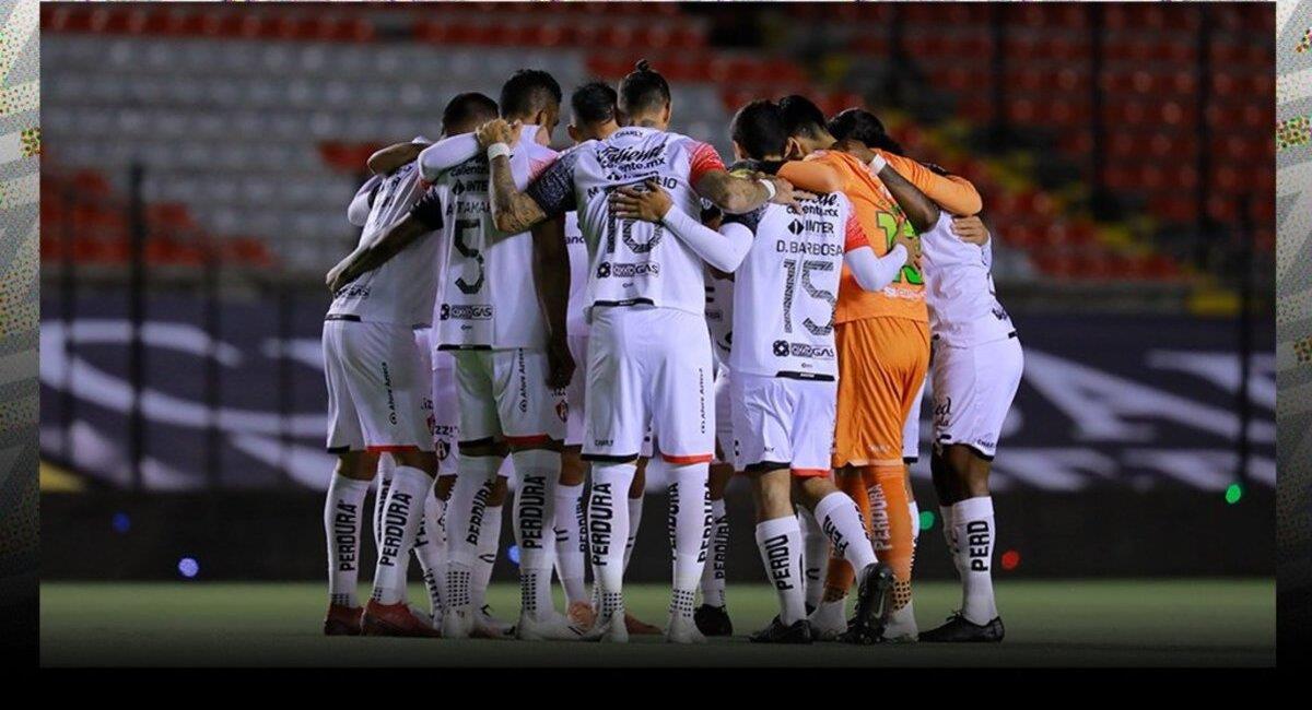 Altas se hunde en la Liga MX. Foto: Twitter Atlas