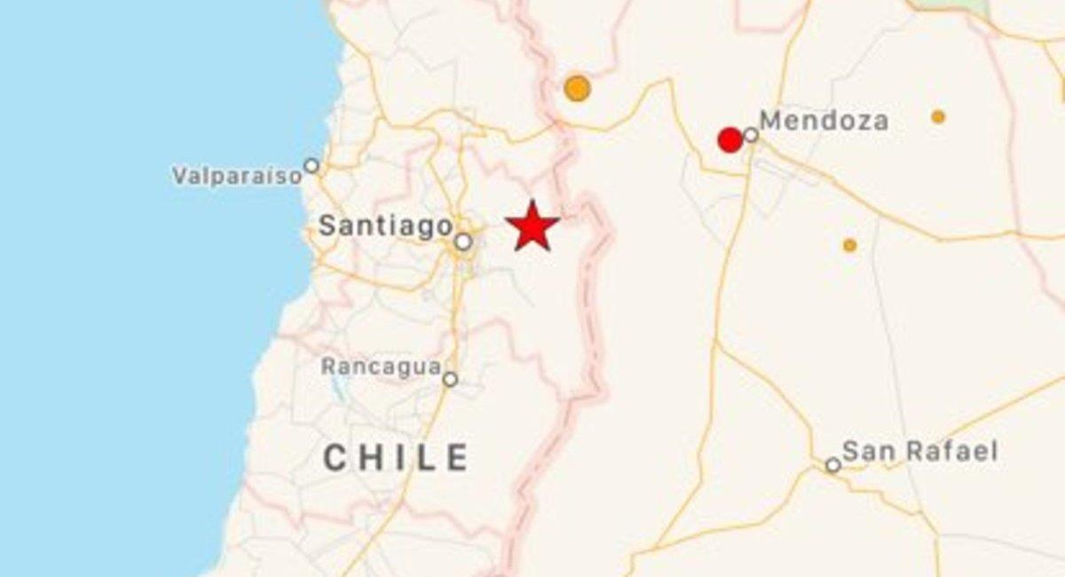 Sismo en Santiago de Chile. Foto: Twitter Earthquake