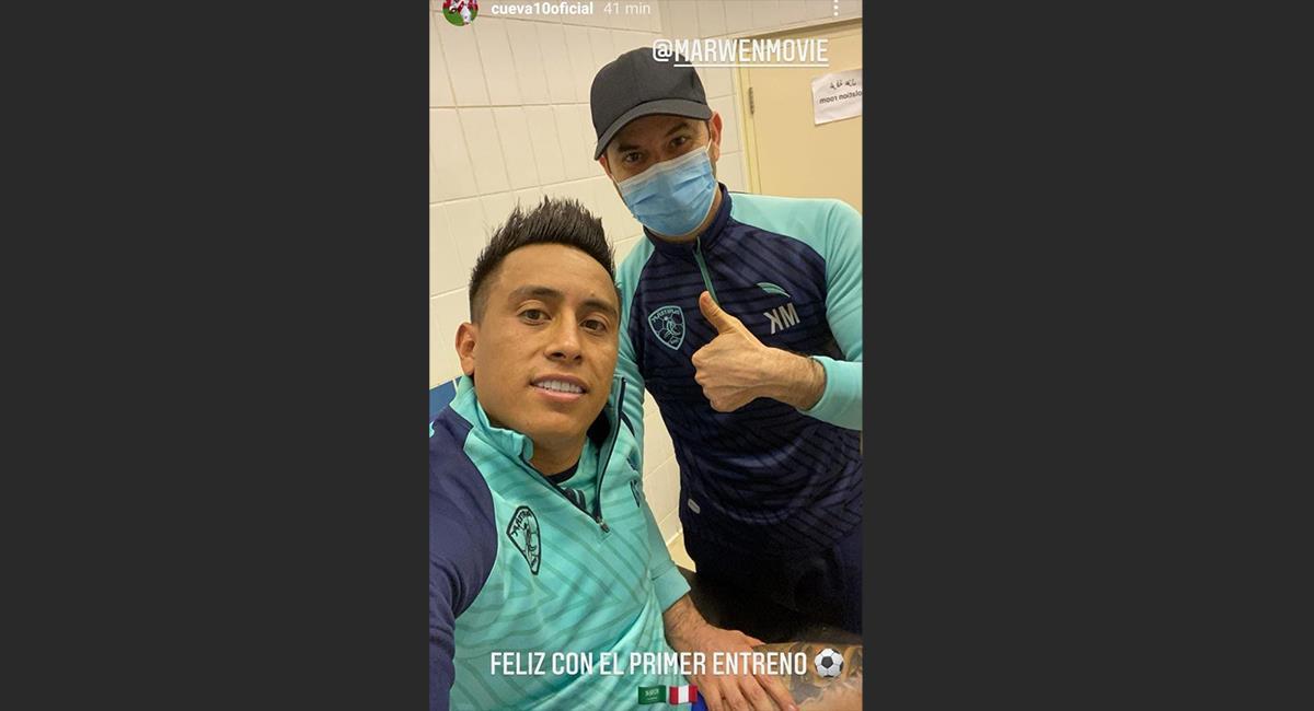 Christian Cueva realizó primer entrenamiento con Al-Fateh. Foto: Instagram Christian Cueva