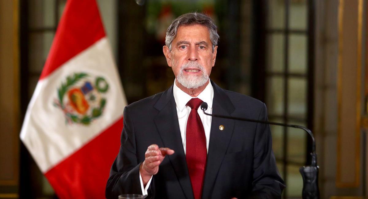 Francisco Sagasti dio mensaje a la nación este martes. Foto: Andina