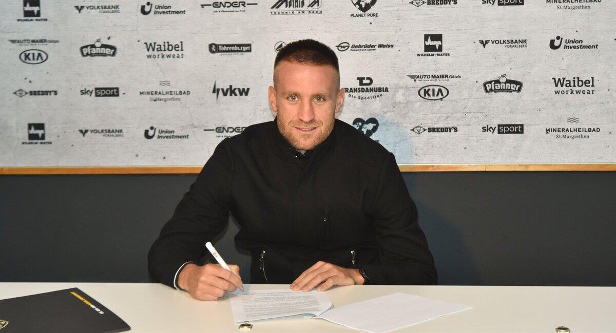 Danilo Carando es nuevo jugador del Altach de Austria. Foto: Twitter @SCRAltach