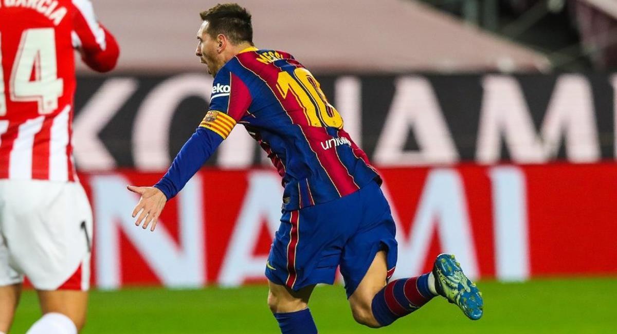 Lionel Messi fue autor de un golazo de tiro libre. Foto: Twitter @FCBarcelona_es