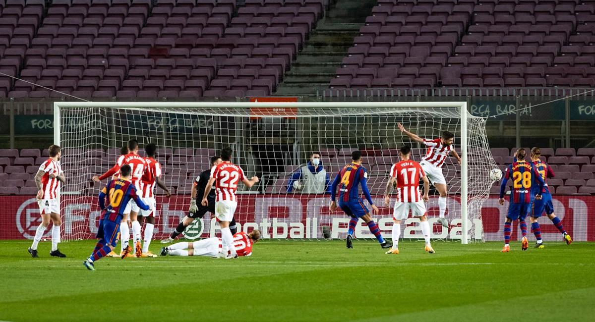 Lionel Messi abrió la cuenta a los 20 minutos. Foto: Twitter @FCBarcelona_es