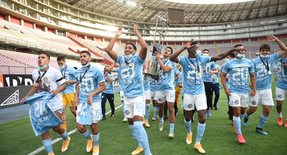 Sporting Cristal es el campeón 2020 del fútbol peruano. Foto: Twitter Conmebol
