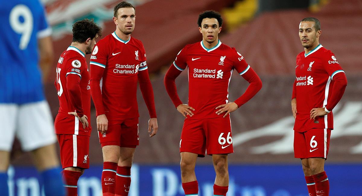 Liverpool cayó sobre los minutos finales ante Brighton. Foto: EFE