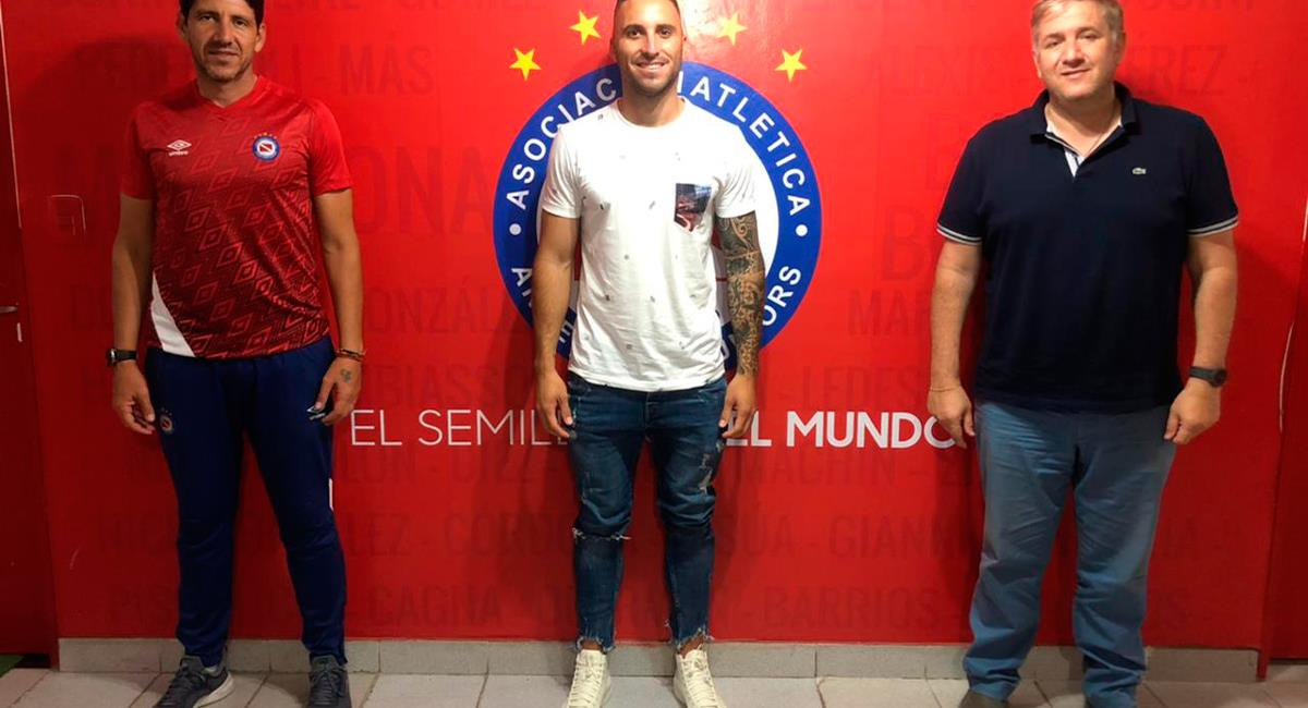Emanuel llega a Argentinos Juniors este 2021. Foto: Twitter @AAAJoficial